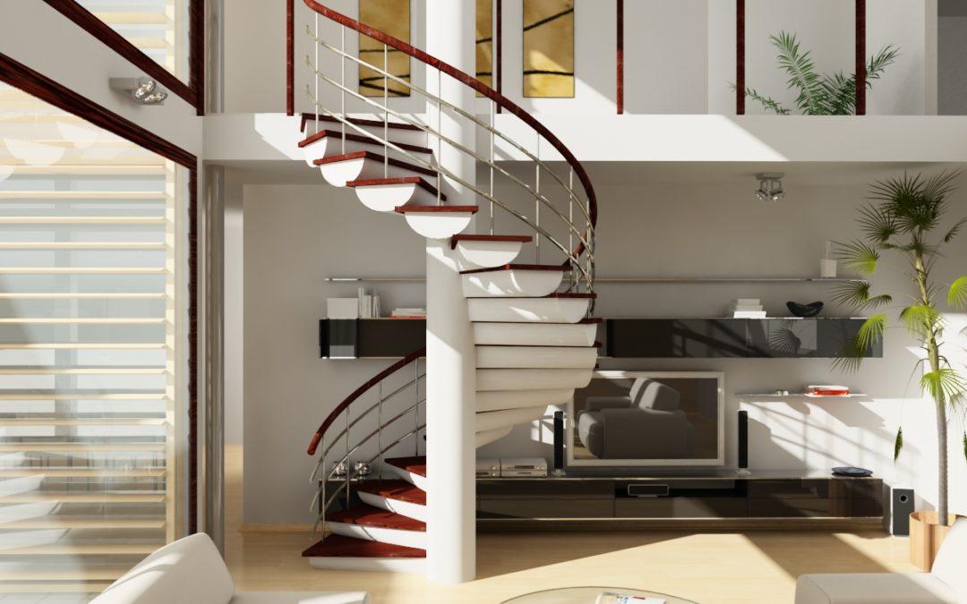 Винтовые лестницы для коттеджа