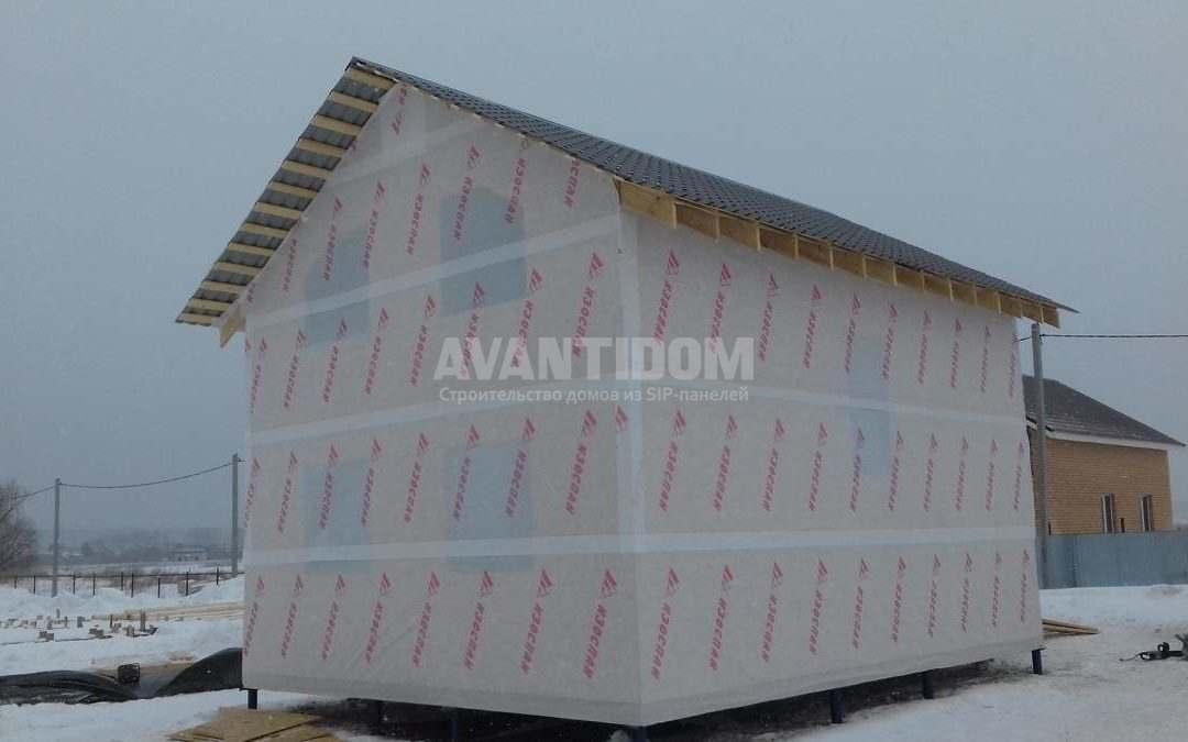 Строительство каркасного дома в г. Набережные Челны п. Малая Шильна