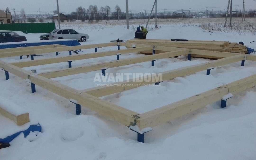 Строительство дома по технологии I-SIP п. Подсолнухи
