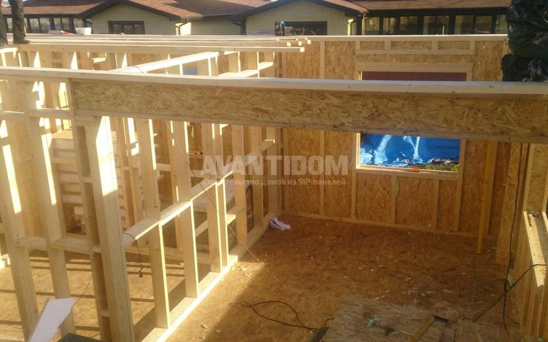Строительство дома по технологии I-SIP п. Подсолнухи — 2 проект (4 часть)